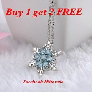 Jewelry - Crystal Snowflake Necklaces Neck30s